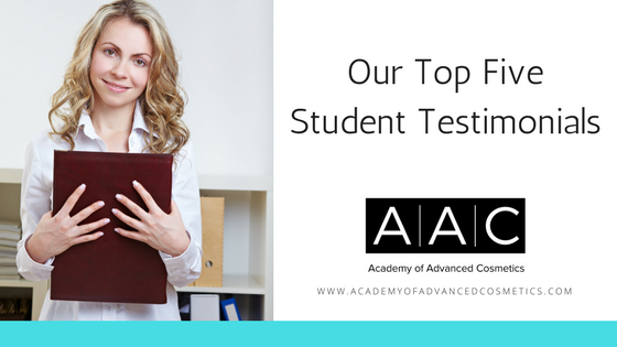 top five cosmetology school student testimonials